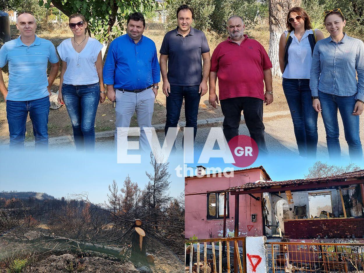 Δήμου Τρικκαίων στις πυρόπληκτες Ροβιές